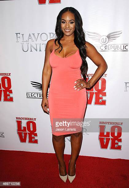 """Brandi Maxiell attends the premiere of """"Brotherly Love"""" at SilverScreen Theater at the Pacific Design Center on April 13, 2015 in West Hollywood,..."""