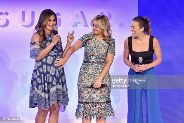 Brandi Milloy Kirbie Johnson and Anna Renderer speak on stage during the POPSUGAR 2017 Digital NewFront at Industria Studios on May 3 2017 in New...