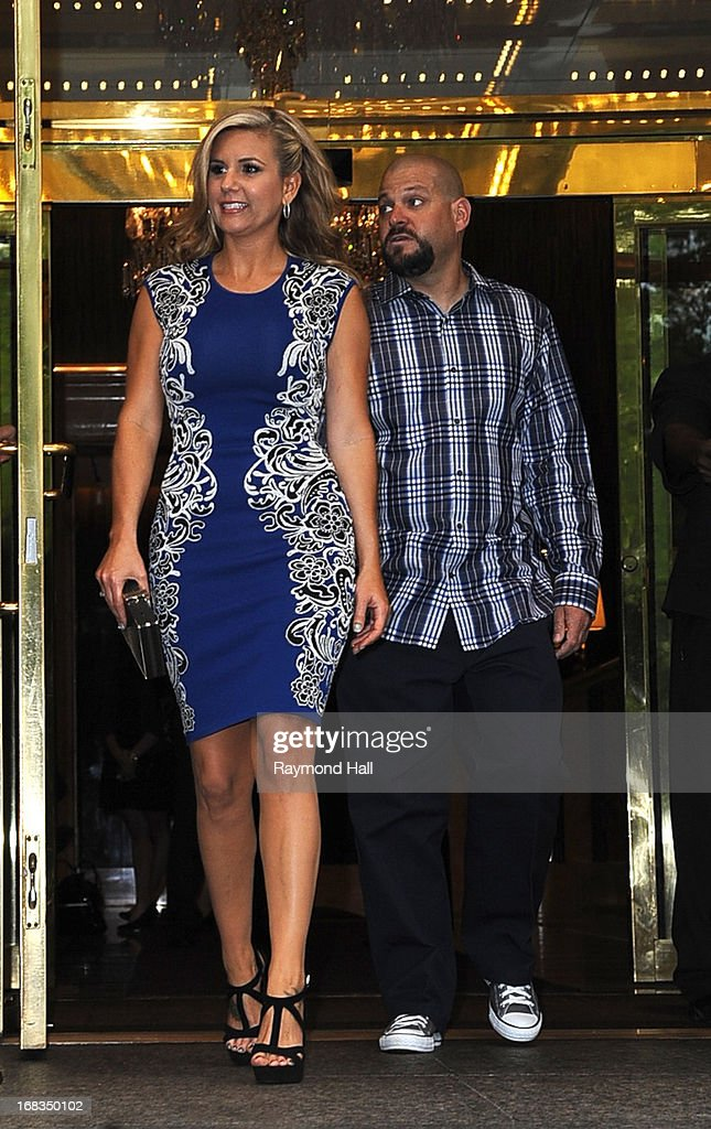 Brandi Passante and Jarrod Schulz are seen outside the Trump Hotel on May 8, 2013 in New York City.