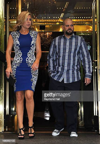 Brandi Passante and Jarrod Schulz are seen outside the Trump Hotel on May 8 2013 in New York City