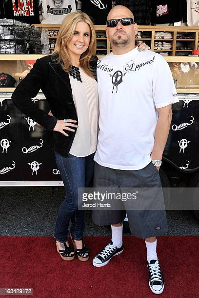 Brandi Passante and Jarrod Schulz arrive at the Grand Opening of Now Then Second Hand Store on March 9 2013 in Long Beach California