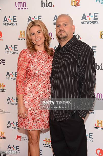 Brandi Passante and Jarrod Schulz of Storage Wars attends the AE Networks 2012 Upfront at Lincoln Center on May 9 2012 in New York City