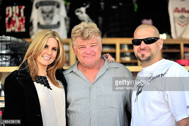 Brandi Passante Dan Dotson and Jarod Schulz arrive at the Grand Opening of Now Then Second Hand Store on March 9 2013 in Long Beach California