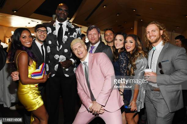 Brandi Rhodes Tony Khan Shaquille O'Neal of Inside The NBA on TNT Cody Rhodes Kenny Omega Matt Jackson Dr Britt Baker Hangman Adam Page of TNT's All...