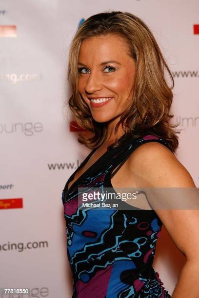 Brandi Tobias arrives at the Love N' Dancing Cast Party at Jimmy's Lounge on November 7 2007 in Hollywood California