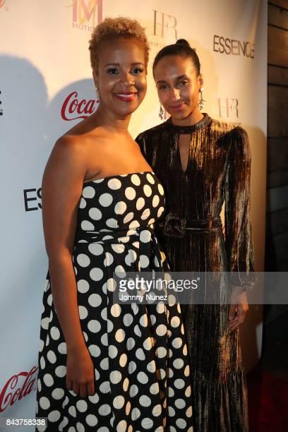 Brandice Daniel and Chioma Nnadi Attend Harlem's Fashion Row at La Marina Restaurant Bar Beach Lounge on September 6 2017 in New York City