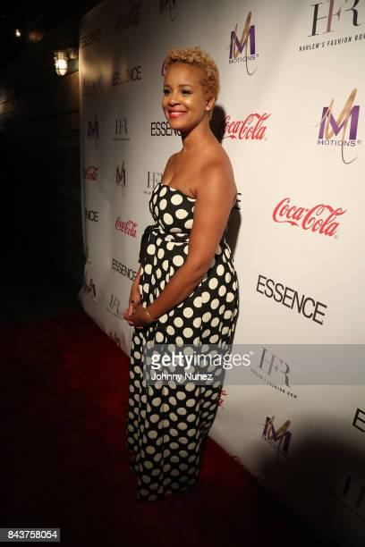Brandice Daniel Attends Harlem's Fashion Row at La Marina Restaurant Bar Beach Lounge on September 6 2017 in New York City