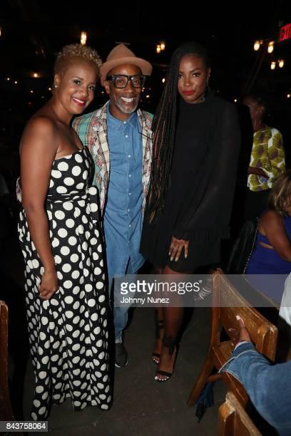 Brandice Daniel Guest and Tai Beauchamp Attends Harlem's Fashion Row at La Marina Restaurant Bar Beach Lounge on September 6 2017 in New York City