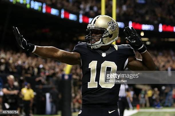 Brandin Cooks of the New Orleans Saints against the Green Bay Packers at MercedesBenz Superdome on October 26 2014 in New Orleans Louisiana