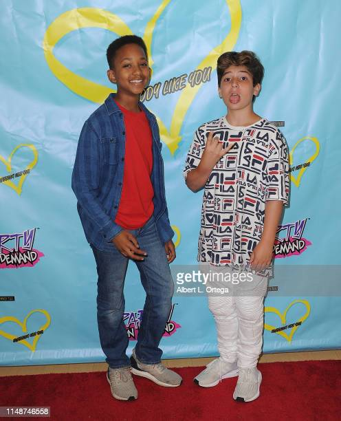 Brandin Stennis and Angel Montero attend the Release Party For Dani Cohn And Mikey Tua's Song Somebody Like You held at The Industry Loft on June 8...