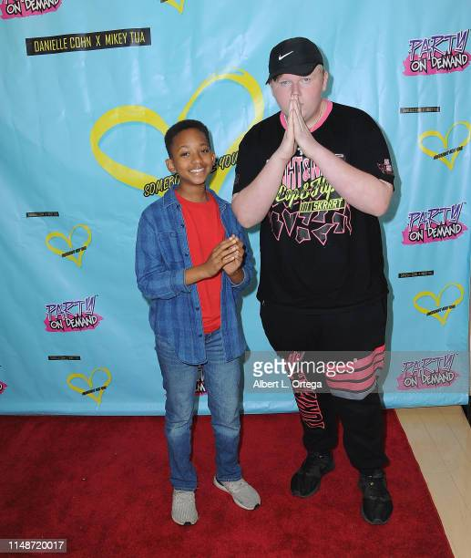 Brandin Stennis and Bill Jensen attend the Release Party For Dani Cohn And Mikey Tua's Song Somebody Like You held at The Industry Loft on June 8...