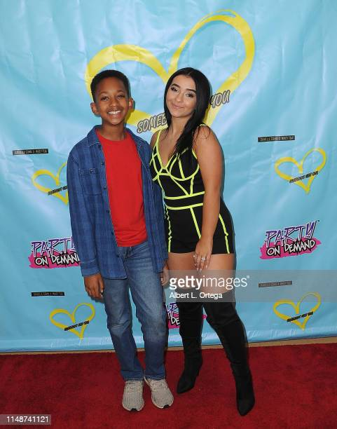 Brandin Stennis and Dani Cohn attend the Release Party For Dani Cohn And Mikey Tua's Song Somebody Like You held at The Industry Loft on June 8 2019...
