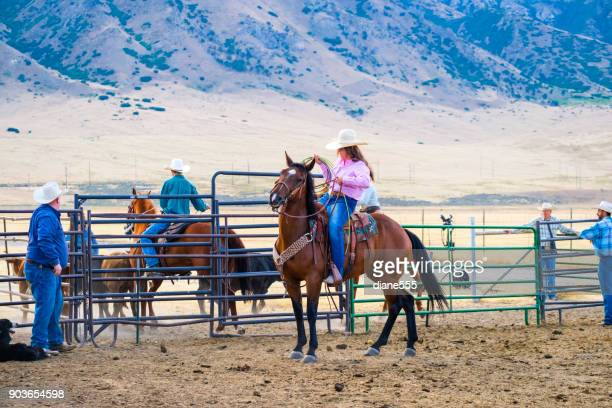 branding day at a utah ranch - livestock branding stock photos and pictures