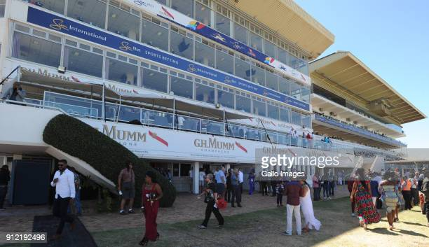 Branding during the 2018 Sun Met at Kenilworth Racecourse on January 27 2018 in Cape Town South Africa The 134th edition of the Sun Met brings racing...
