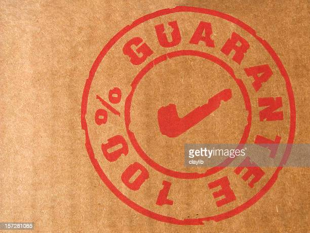 branding label: 100% guarantee