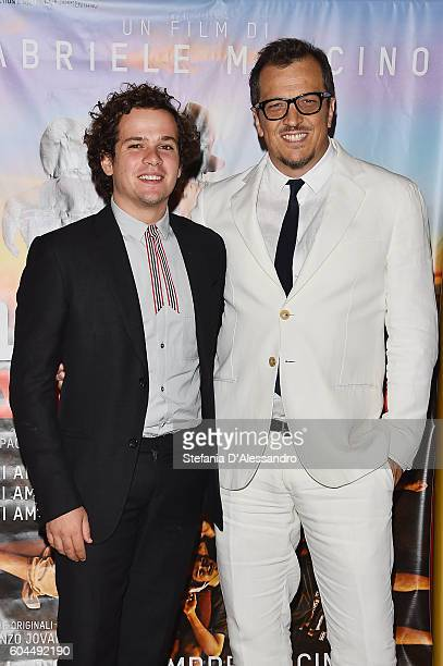 Brando Pacitto and Gabriele Muccino attend a photocall for 'L'Estate Addosso Summertime' on September 13 2016 in Milan Italy