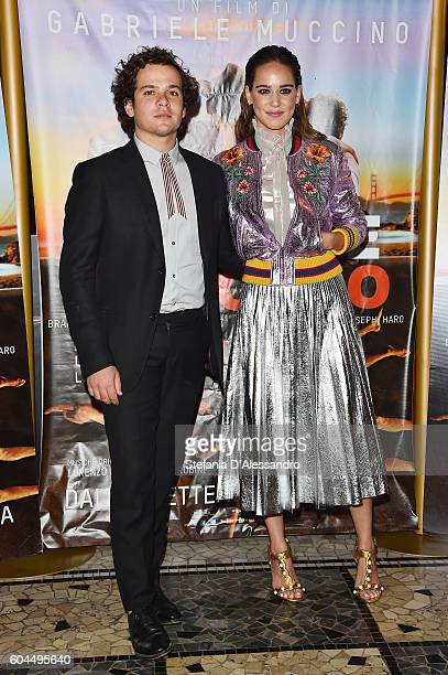 Brando Pacitto and Matilda Lutz attend a photocall for 'L'Estate Addosso Summertime' on September 13 2016 in Milan Italy