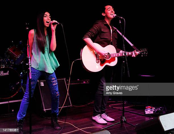 Brandon and Savannah perform at the Shamrock and Roll Concert for St Jude's Children's Hospital on March 17 2012 in Los Angeles California