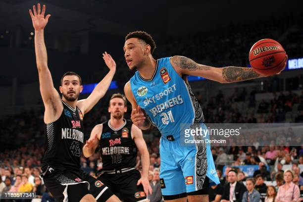 Brandon Ashley of the Breakers in action during the round four NBL match between Melbourne United and the New Zealand Breakers at Melbourne Arena on...
