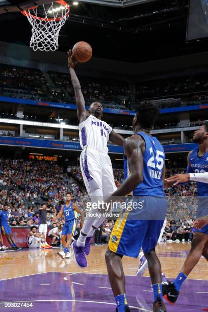 Brandon Austin of the Sacramento Kings shoots the ball against the Golden State Warriors on July 3 2018 at Golden 1 Center in Sacramento California...