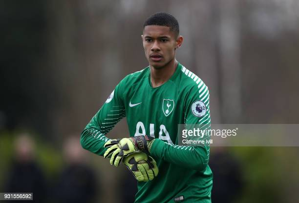 Brandon Austin of Tottenham Hotspur during the UEFA Youth League group H match between Tottenham Hotspur and FC Porto on March 13 2018 in Enfield...