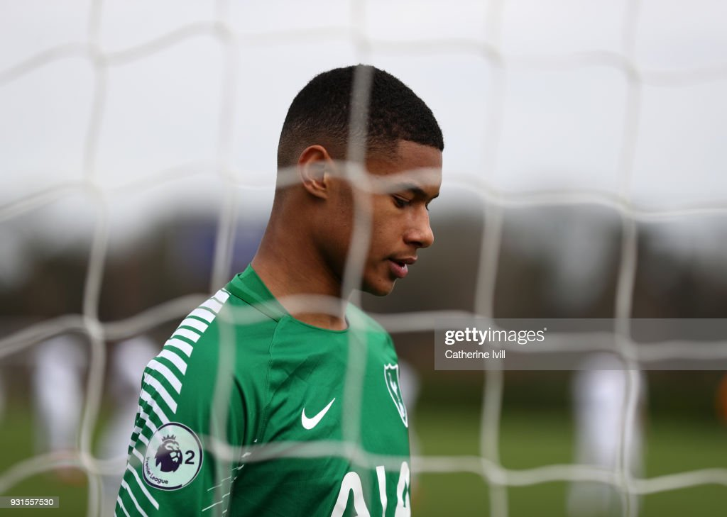 Brandon Austin of Tottenham Hotspur during the UEFA Youth League group H match between Tottenham Hotspur and FC Porto on March 13, 2018 in Enfield, United Kingdom.