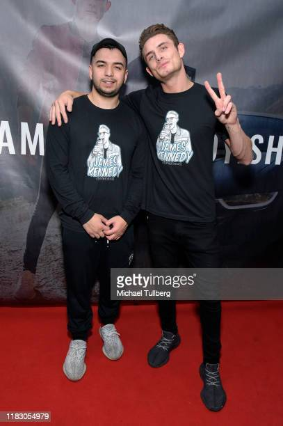 Brandon Avilez and James Kennedy attend the Los Angeles launch party for JamesKennedyshop at SUR Lounge on October 23 2019 in Los Angeles California