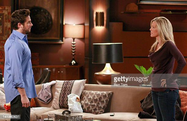 HOSPITAL Brandon Barash and Laura Wright in a scene that airs the week of March 19 2012 on ABC Daytime's 'General Hospital' 'General Hospital' airs...
