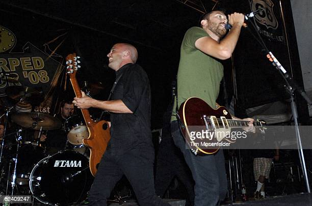 867bca76ea46ac Brandon Barnes Zach Blair and Tim McIlrath of Rise Against perform as part  of the Vans