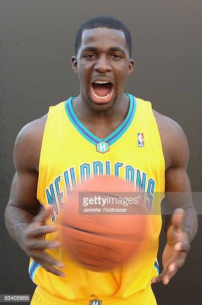 Brandon Bass of the New Orleans Hornets poses during a portrait session with the 2005 NBA rookie class on August 10 2005 in Tarrytown New York NOTE...