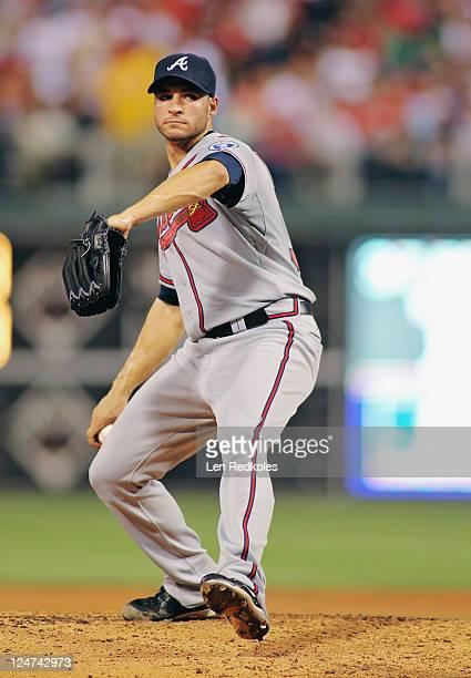 Brandon Beachy of the Atlanta Braves pitches against the Philadelphia Phillies at Citizens Bank Park on September 7 2011 in Philadelphia Pennsylvania