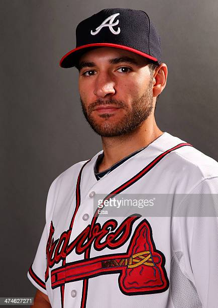 Brandon Beachy of the Atlanta Braves poses for a portrait during the Atlanta Braves Photo Day at Champion Stadium on February 24 2014 in Lake Buena...