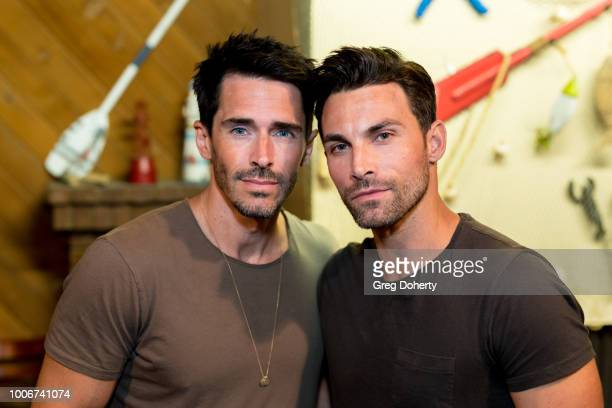 Brandon Beemer and Erik Fellows attend The Bay Cast Host Fan Appreciation Event on July 27 2018 in Glendale California