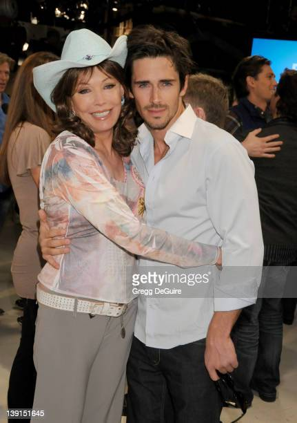Brandon Beemer and LesleyAnne Down attend the 6000 Episode of The Bold and the Beautiful at CBS Television City on February 7 2011 in Los Angeles...