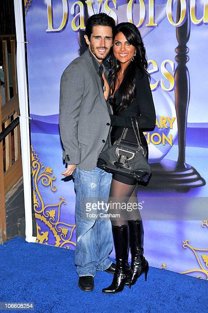 Brandon Beemer and Nadia Bjorlin pose for a picture at the 'Days Of Our Lives' 45th Anniversary Party held at The House Of Blues on November 6 2010...
