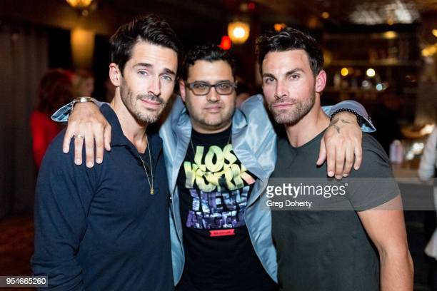 Brandon Beemer Gregori J Martin and Erik Fellows attends the Gregori J Martin Birthday Party at Paloma on May 3 2018 in Los Angeles California