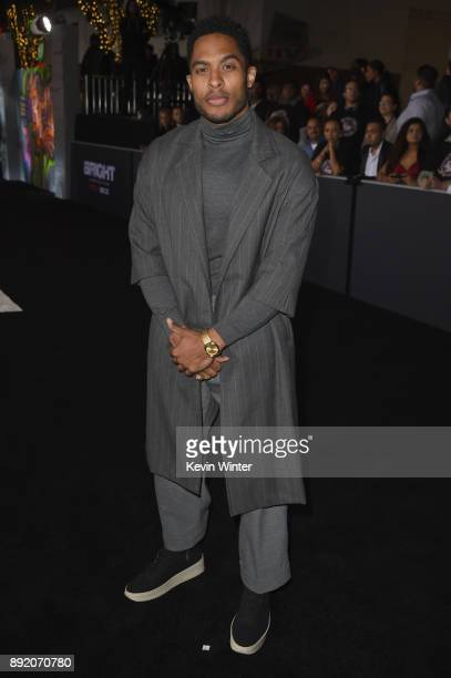 Brandon Bell attends the Premiere Of Netflix's 'Bright' at Regency Village Theatre on December 13 2017 in Westwood California