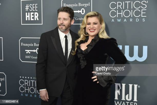 Brandon Blackstock and Kelly Clarkson during the arrivals for the 25th Annual Critics' Choice Awards at Barker Hangar on January 12 2020 in Santa...