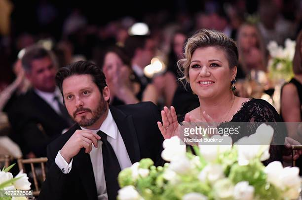 Brandon Blackstock and singer/songwriter Kelly Clarkson attend Muhammad Ali's Celebrity Fight Night XXI at the JW Marriott Phoenix Desert Ridge...