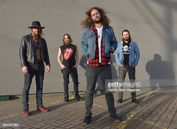 Brandon Bliss Jeremy Widerman Jon Harvey and Steve Kiely of Canadian rock group Monster Truck photographed before a live performance at The...