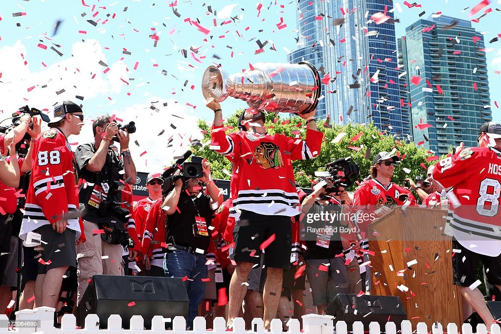 Chicago Blackhawks 2013 Stanley Cup Championship Rally  : News Photo