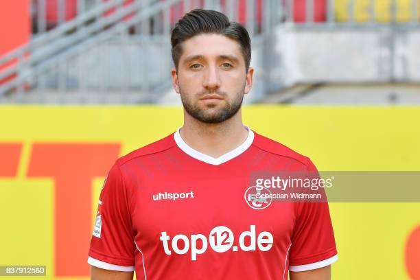 Brandon Borrello of 1 FC Kaiserslautern poses during the team presentation at FritzWalterStadion on August 23 2017 in Kaiserslautern Germany