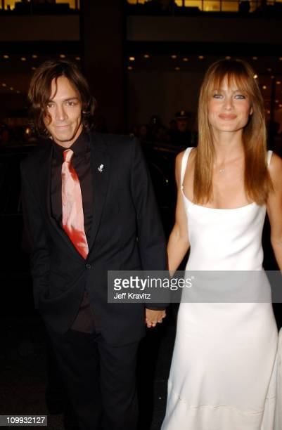 Brandon Boyd and Carolyn Murphy during 2002 VH1 Vogue Fashion Awards Arrivals at Radio City Music Hall in New York City New York United States