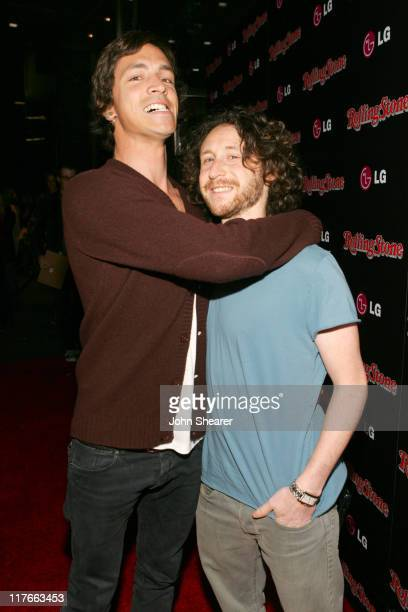 Brandon Boyd and Mike Einziger of Incubus during Rolling Stone Magazine Celebrates their 2006 Annual Hot List Red Carpet at Stone Rose in Los Angeles...