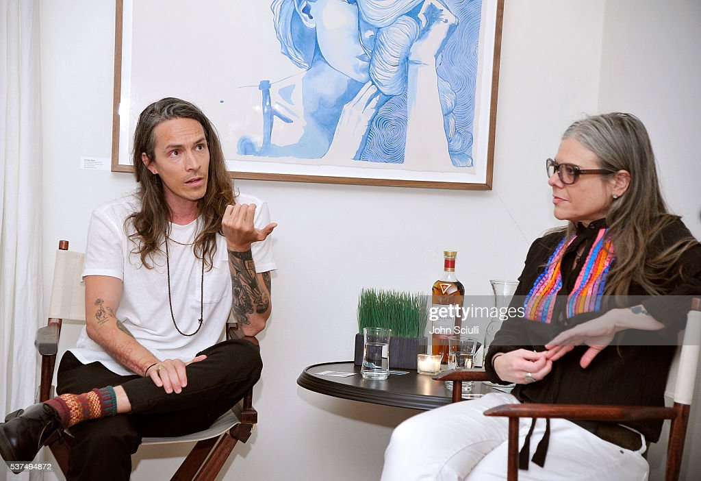 Brandon Boyd, artist, singer/songwriter and Shana Nys Dambrot, art critic/curator and author attend The Art of Elysium and The Macallan's Men In The Arts: The Work of Brandon Boyd on June 1, 2016 in Los Angeles, California.