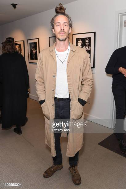 Brandon Boyd attends Oliver Peoples x Tasya van Ree Celebrates Who is Oliver Exhibition at LECLAIREUR on February 13 2019 in Los Angeles California