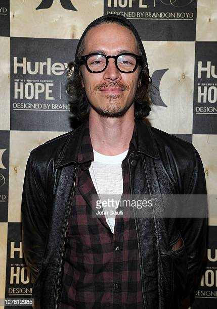 Brandon Boyd attends the celebration of Hurley Fashion and art collaboration with Brandon Boyd to Benefit HOPE on March 24 2011 in Venice California