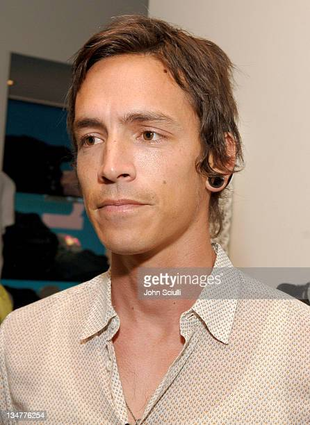 Brandon Boyd during Evangeline Lilly as The New Face of Michelle K at Kitson in Los Angeles California United States