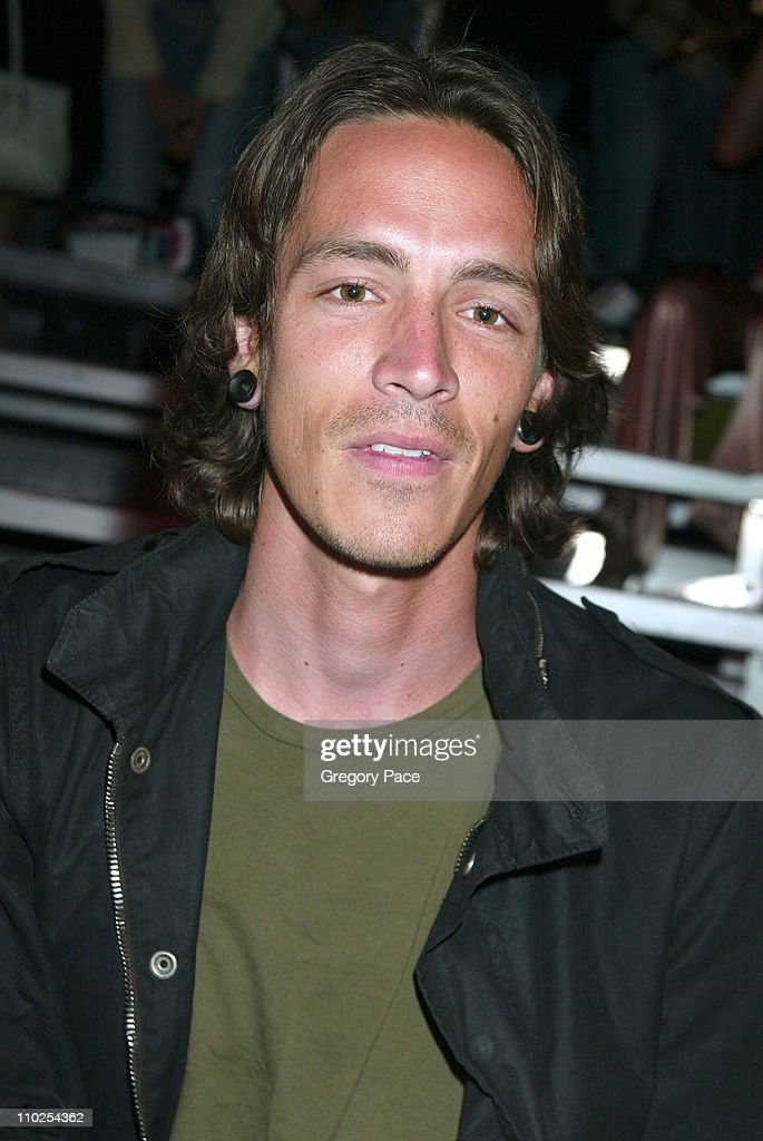 Brandon Boyd during Olympus Fashion Week Spring 2006 - Marc Jacobs - Front Row and Backstage at N.Y. State Armory in New York City, New York, United States.