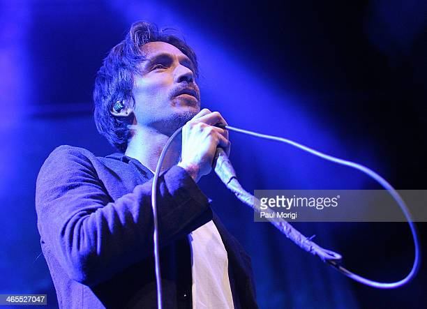 Brandon Boyd frontman of the band Incubus performs with his new band Sons of the Sea on its first US tour beginning at the 930 Club on January 27...